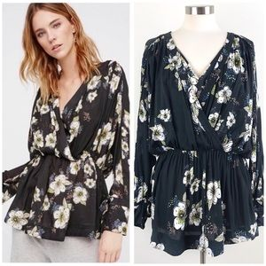 Free People | Tuscan Dreams Tunic Floral Blouse